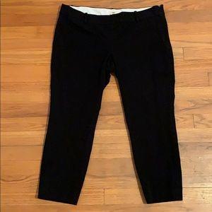 JCrew City Fit Black Pant